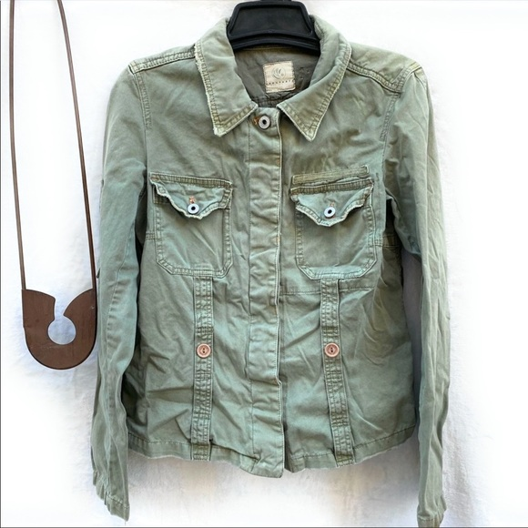 Sanctuary Jackets & Blazers - Sanctuary Cotton Jacket Green